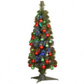 3 ft. Fiber Optic Fireworks Ornament Artificial Christmas Tree