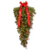 36 in. Crestwood Spruce Teardrop with Clear Lights