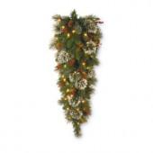 48 in. Wintry Pine Teardrop with Clear Lights
