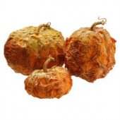 8 in., 6 in. and 5 in. H Pumpkin Decor (Set of 3)