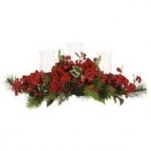 30 in. Holiday Hydrangea Candelabrum