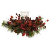 Holiday Candelabrum Silk Flower Arrangement
