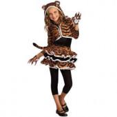 Girls Tigress Hoodie Costume